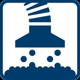 분진 추출 공구에 내장된 분진 주머니로 직접 흡입 또는 다용도 분진 추출기 사용
