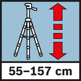 작업 높이 55-157 cm 55-157 cm 작업 높이