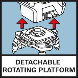 분리할 수 있는 회전 플랫폼 회전 미니 삼각대로 정밀한 위치 설정을 더욱 쉽게 해 줌