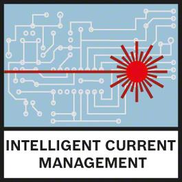 지능형 전류 관리 지능형 전류 관리로 레이저 다이오드 온도를 감시하여, 과열되지 않으면서도 레이저 가시도가 최대화되도록 함