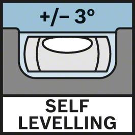 셀프 레벨링 3° 셀프 레벨링 ± 3°