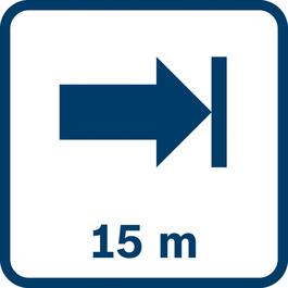 작업 거리 최대 15 m