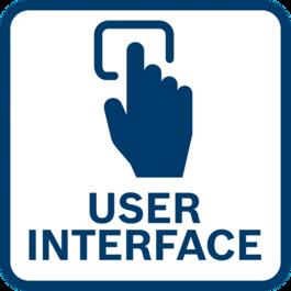 직접 공구 피드백 및 설정 조정 통합 사용자 인터페이스 및 연결 기능