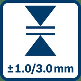 측정 정확도 ± 1.0/3.0 mm